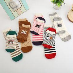 [US $1.59] Women Lovely Cat Animal Cartoon Girl Boy Cotton Socks  #animal #cartoon #cotton #girl #lovely #socks #women Cheap Socks, New Fashion, Womens Fashion, Sock Animals, Dress Socks, Cotton Socks, Wool Dress, Girl Cartoon, Stockings