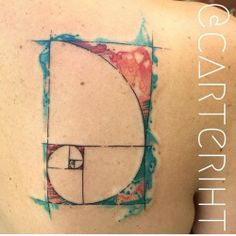 Golden Ratio tattoo done at ihearttattoo in Columbus, Ohio.