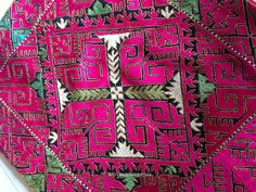 ANTIQUE AFGHANISTAN SILK FLOSS EMBROIDERY TEXTILES | WOVENSOULS ANTIQUE TEXTILES