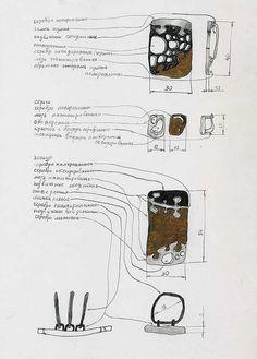 Jewellery design sketchbook illustrations & development, Juriy Bylkov