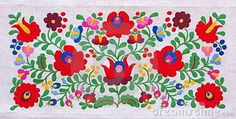 free hungarian embroidery patterns | Traditional Hungarian embroidery with floral motives