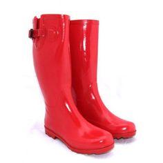 Red Block Gumboots