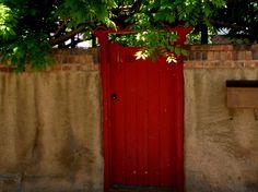 Red gate in Santa Fe.