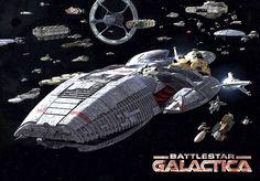 Spaceships of Battlestar Galactica.  #SpaceShips  #Starships  #BattlestarGalactica