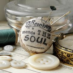 Sewing Mends the Soul Pincushion Ring by Wychbury, via Flickr