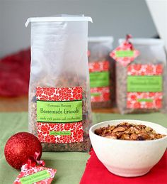 Homemade granola gift idea