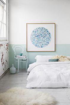 Die Farbe ist eine tolle Idee so an die Wand im Kinderzimmer anzubringen