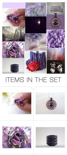 """""""Amethyst & Lavender"""" by crystalglowdesign ❤ liked on Polyvore featuring art and vintage"""