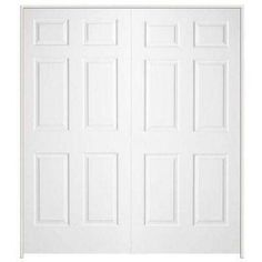 Textured 6 Panel Primed Moulded Double Single Prehung. Prehung Interior  DoorsCloset ...