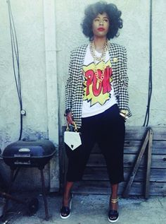 bglhonline: More of Kym's style looks here Afro Punk Fashion, Dope Fashion, I Love Fashion, Passion For Fashion, Girl Fashion, Fashion Looks, Womens Fashion, Swag Fashion, Chic Outfits