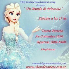 PROMO ENTRADAS GRATIS !!!  Dale me gusta a la página oficial en Un Mundo de Princesas  uego compartí esta foto y ya estarás participando del sorteo de 2 entradas GRATIS para el Sábado 20 de Junio a las 17 hs ( Comparti la foto desde hoy y hasta el viernes 19 a las 21 hs)  Cuantas más veces compartas la fotos, más posibilidades de Ganar!!! Sorteo: Viernes 19 de Junio a las 22 hs Teatro Porteño Av Corrientes 1630 Sábado 20 de Junio a las 17 hs