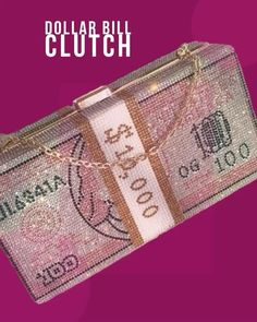Pink Crystal Dollar Bill Clutch Etsy Jewelry, Bling Jewelry, Gold Nose Rings, Seashell Necklace, Fashion Collage, Men Style Tips, Wholesale Jewelry, Gold Pendant, Fashion Addict