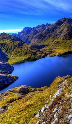 Stunning Lake Harris along the Routeburn Track Great Walk, South Island, New Zealand