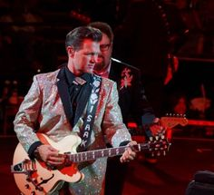 Chris Isaak and Hershel Yatovitz in concert, July 31, 2013, Phoenix, AZ