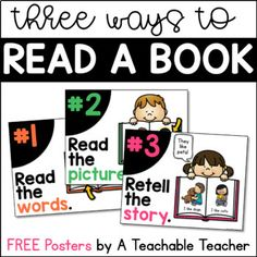 FREE Three Ways to Read a Book Posters!Teach your students that there is more than one way to read a book. These free posters are perfect for any primary classroom. Enjoy!Lauren You might also like these Leveled Reading Passages! Level ALevel BLevel CClick here to see ALL available levels!