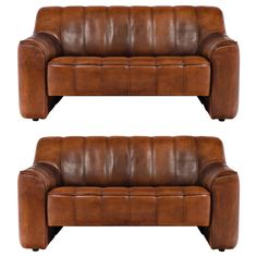 De Sede Pair of Leather Sofas DS 44 from Switzerland | From a unique collection of antique and modern loveseats at https://www.1stdibs.com/furniture/seating/loveseats/