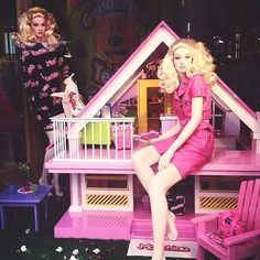 """MOSCHINO BARBIE DREAMHOUSE"" (some gossip,  you noticed Ken is out of the picture.......?), pinned by Ton van der Veer"