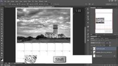 Making An Easy Photo Calendar in Photoshop - YouTube