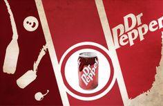 Dr Pepper retro posters by Bogdan Stanculescu, via Behance