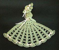 Easter Crinoline Girl Doily. $3.95 download at crochetmemories.com
