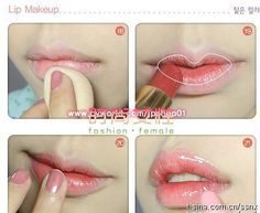 Easy steps of Korean Ulzzang Gradient Lips #korean #lips