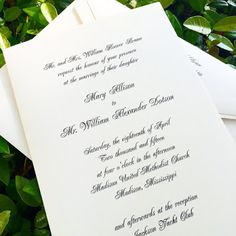 Fresh Ink : Style Sentiment & Stationery in the South: Mary Allison Brame and William Dotson wedding invitations