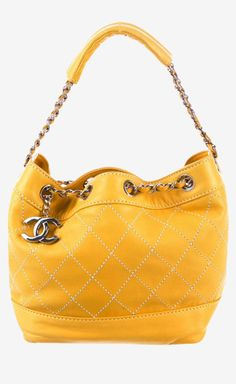 Chanel yellow tote