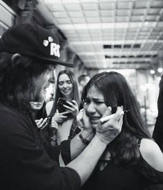 Awwwwww This gal was so overcome with emotion meeting Norman she started to sob. He's obviously wiping away her tears. <3 Man, that's good to see. At least I know if I break into full on tears I won't be looked at like a nut job. He'll be super kind to me too <3 I might. I really love him. I understand her emotional state <3 He's amazing in a million ways! Norman has such a heart of Gold. He's a very decent person.