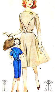 1960s Dress Pattern Butterick 9925 Full Skirt or by paneenjerez, $16.00