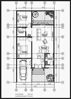 Super Indian House Design Floor Plans Dream Homes Ideas Narrow House Plans, Small House Floor Plans, Home Design Floor Plans, Bungalow House Design, Small House Design, Modern House Design, Home Map Design, Indian Home Design, The Plan