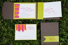woodgrain inspired ribbon invitation Network Solutions, Wedding Photoshoot, Green And Brown, Special Day, Summer Wedding, Real Weddings, Vibrant, Blog, Ribbon