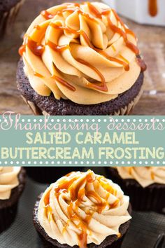 I made this recipe, but with 1 addition. I added 2 T heavy cream and whipped the frosting on medium speed for 2 minutes which made the fr. Dessert Cake Recipes, Healthy Dessert Recipes, Frosting Recipes, Delicious Desserts, Healthy Food, Caramel Recipes, Apple Recipes, Easy Recipes, Caramel Buttercream Frosting