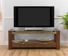 rhian solid walnut and glass tv unit 479 95 furniture lounge livingroom