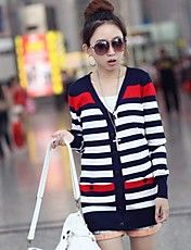 Women's Striped Loose Knitted Cardigan – USD $ 13.99