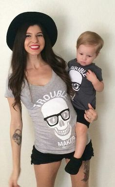 Mother child style. Trouble makers.
