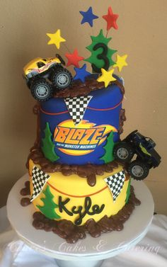 Blaze and the Monster Machines Birthday Cake https://www.facebook.com/Chacescakes