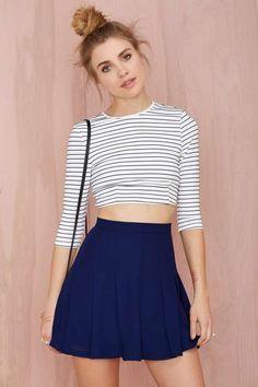 Nasty Gal Pleatest Taboo Crepe Skirt - Skirts Spring Skirts c857669db8