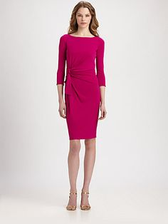 ISSA - Knot-Detailed Jersey Dress - Saks.com, $695