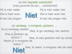 Negatie : gebruik van NIET 03