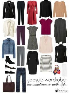 Capsule Wardrobe: Low-Maintenance Office Style - Wardrobe Oxygen