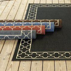 """Suzanne Kasler Quatrefoil Border Indoor/Outdoor Rug - Gray 2' x 3'7"""" - Ballard Designs by Ballard Designs, http://www.amazon.com/dp/B0050CZXJQ/ref=cm_sw_r_pi_dp_lrZpsb0BP27HB"""