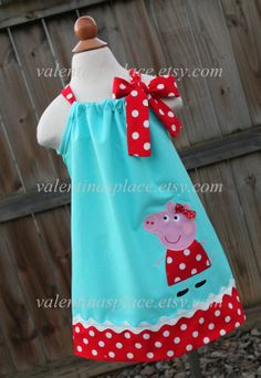 Adorable Peppa Pig pillowcase dress Dress by Valentinasplace, $32.00