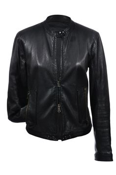 #S.W.O.R.D. London | Coole #Bikerjacke aus schwarzem Leder, Gr. M-L | S.W.O.R.D. London | mymint-shop.com | Ihr #Online #Shop für #Secondhand / #Vintage #Designerkleidung & Accessoires bis zu -90% vom Neupreis das ganze Jahr #mymint