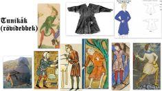 12. századi tunikák (rövidebbek)