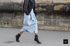 Street style - By jaiperdumaveste - JPMV - Nabile Quenum. // Elena Kibalchich wearing Margiela during Paris fashion week Fall Winter 2014.