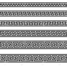Illustration Of Different Greek Ornament Patterns Royalty Free ., Stock Vector Illustration Of Different Greek Ornament Patterns Royalty Free . Border Pattern, Border Design, Pattern Art, Estilo Mehndi, Band Tattoo Designs, Greek Pattern, Ancient Greek Architecture, Ancient Greece, Ancient Greek Art