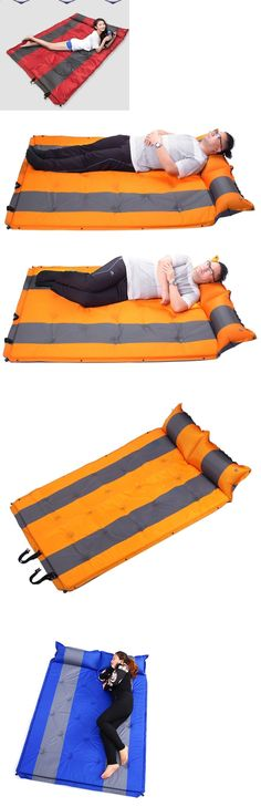 Camping Sleeping Pad - Mattresses and Pads 36114: Double Self Inflating Pad Sleeping Mattress Air Bed Camping Hiking Mat Joinable -> BUY IT NOW ONLY: $45.99 on eBay! #CampingSleepingPad
