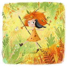 Illustration by Lucy Fleming Children's Book Illustration, Character Illustration, Illustration Children, Pretty Art, Cute Art, Cartoon Pics, Illustrations And Posters, Painting Inspiration, Cute Drawings