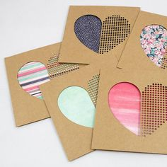 Dot Dot Heart Valentines Day Card Laser Cut Paper Cut Laser Cut Paper, Dot Dot, Green Watercolor, Kraft Envelopes, Paper Cutting, Etsy Store, Valentines Day, Dots, Colours