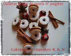 Galletas Linzer de canela & jengibre